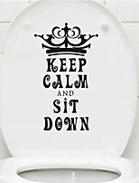 AYA DIY Funny Toilet Stickers Keep Calm and Sit Down