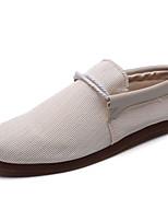Черный Бежевый Серый-Для мужчин-Повседневный-Ткань-На плоской подошве-Удобная обувь-Мокасины и Свитер