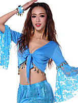 Shall We Belly Dance Tops Women Performance Cotton 1 Piece Long Sleeve Tops