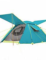 3-4 personnes Tente Double Tente automatique Une pièce Tente de camping 2000-3000 mm Fibre de verre OxfordRésistant à l'humidité Etanche