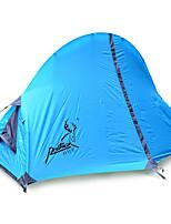 1 personne Tente Double Tente pliable Une pièce Tente de camping Fibre de verre Oxford Etanche Portable-Randonnée Camping-Bleu