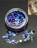 1bottle moda diy beleza redonda fatia nail art laser glitter rodada paillette decoração p19
