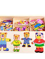 Jigsaw Puzzles DIY KIT Jigsaw Puzzle Logic & Puzzle Toys Building Blocks DIY Toys Square 1 Wood Leisure Hobby