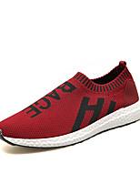 Для мужчин Кеды Удобная обувь Ткань Весна Лето Для прогулок Повседневный Для занятий спортом Беговая обувь На плоской подошвеЧерный Серый