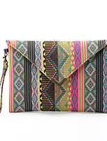 Women 's national wind canvas bag envelope bag hand bag