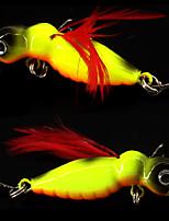 2 pcs Autres Outils de pêche leurres de pêche Gabarit Blanc Rouge Alose jaune Dos noir doré g/Once,45 mm/1-3/4