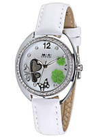 Women's Fashion Watch Quartz / Leather Band Casual White Red Red White