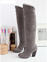 Women's Boots Fall Winter Comfort Leatherette Dress Casual Cone Heel Buckle Walking