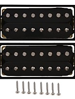 (Black) 8 String Guitar Pickup Set Double Coil Humbucker For Electric Guitar