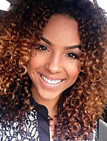Ombre T1B/30 Lace Front Wigs Human Hair Kinky Curly for Woman 150% Density Peruvian Virgin Hair Glueless Lace Wigs with Baby Hair