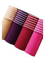 4Pcs/Lot Womens Sexy Seamless Briefs Cotton Underwear Polyester Spandex Panties