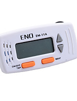 ENO EM-11 NEW Mini Clip Digital Metronome White Color