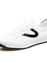 Men's Sneakers Comfort Mary Jane Canvas Spring Summer Athletic Casual Outdoor Comfort Mary Jane Lace-up Flat HeelWhite Black/White