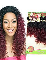 Омбре Бразильские волосы Кудрявый 6 месяца 1 шт. волосы ткет