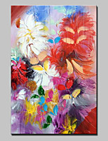 Hand Painted Modern Abstract Flowers Oil Painting On Canvas Wall Art Pictures For Home Decoration Ready To Hang