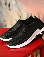 Черный Серый Красный-Для мужчин-Повседневный-ТюльУдобная обувь-Кеды