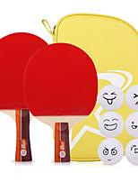 2 Stars Ping Pang/Table Tennis Rackets Ping Pang Wood Long Handle Short Handle Pimples