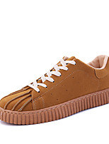 Men's Shell Toe Sneakers Spring Summer Comfort PU Outdoor Athletic Casual Flat Heel Lace-up Khaki Red Gray Black