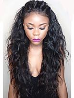 Vague d'eau cheveux en laine complète cheveux humains avec cheveux de bébé 130 perruques de cheveux vierges vierges de densité pour femmes