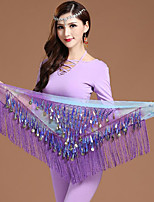 Belly Dance Hip Scarves Women's Training Chiffon Gold Coins 1 PieceChristmas Halloween Princess Fairies Sexy Global Gals Sexy Maids &