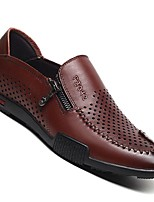 -Для мужчин-Для прогулок Повседневный-Кожа-На плоской подошве-Удобная обувь-Мокасины и Свитер