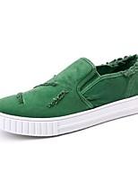 -Для мужчин-Повседневный-Полотно-На плоской подошве-Удобная обувь Светодиодные подошвы-Мокасины и Свитер