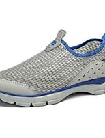 Серый Хаки-Для мужчин-Повседневный-Синтетика-На плоской подошве-Удобная обувь-Мокасины и Свитер