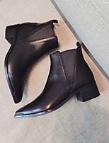 -Для женщин-Повседневный-Полиуретан-На плоской подошве На толстом каблуке-Удобная обувь-Ботинки