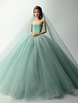Wedding Dresses For Barbie Doll Dresses For Girl's Doll Toy