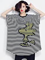 Damen Solide Einfach Lässig/Alltäglich T-shirt,Rundhalsausschnitt Frühling Kurzarm Baumwolle Dünn