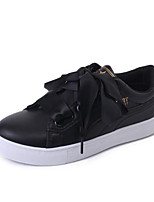 Women's Sneakers Spring Summer Fall Comfort PU Athletic Casual Flat Heel Black White
