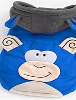 Chien Manteaux Vêtements pour Chien Mignon Dessin-Animé Rouge Bleu