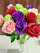 3 Une succursale Soie Roses Fleur de Table Fleurs artificielles