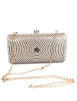 Lady Vintage Beading Clutches Bag Event/Party/Evening Dinner Bag Gold