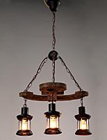 Lampe suspendue ,  Traditionnel/Classique Rétro Rustique Peintures Fonctionnalité for Style mini Bois/BambouSalle de séjour Salle à