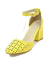 Women's Sandals Spring Summer Slingback Leatherette Dress Casual Chunky Heel Buckle
