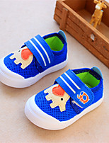 Kids' Baby Loafers & Slip-Ons Comfort Canvas Spring Fall Casual Comfort Flat Heel Dark Blue Ruby Light Blue 1in-1 3/4in