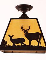 Luzes Pingente ,  Contemprâneo Tradicional/Clássico Rústico/Campestre Vintage Rústico Pintura Característica for Estilo Mini MetalQuarto
