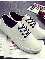 Men's Sneakers Spring Fall Comfort Leatherette Outdoor Casual Flat Heel Black White