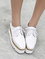 Damen-Stiefel-Lässig-Gummi-Flacher Absatz-T-Riemen-Weiß