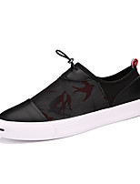 Men's Sneakers Spring Summer Fall Winter Comfort Leatherette Outdoor Athletic Casual Gore Black/Red Black