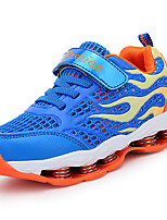 Boys' Athletic Shoes Spring Fall Light Soles Tulle Casual Flat Heel Lace-up Royal Blue Blushing Pink Dark Blue Walking