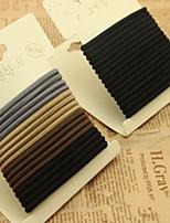 Han Edition High Elastic Hair Accessories Jointless Hair Ring Hair Rope Rope Elastic 32/2 card