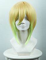 Royal teacher Heinely Hart gold gradient light green short hair cosplay wig