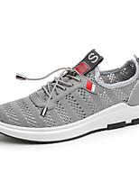 -Для мужчин-Для прогулок Повседневный Для занятий спортом-Тюль-На плоской подошве-Удобная обувь Светодиодные подошвы-Кеды