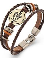 Жен. Муж. Кожаные браслеты Винтаж Кожа Геометрической формы Бижутерия Для 1 шт.