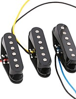 3PCS Black Alnico 5 Alnico V Single Coil Pickup SSS for Strat Style Guitar