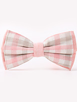 The Fashion Leisure Clothing Accessories CB01902 Cotton Men's Plaid Bow Tie
