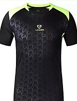 Homme Manches courtes Course / Running Tee-shirt Shirt Etanche Respirable Séchage rapide Résistant aux ultraviolets Confortable Eté