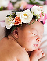 Newborn Babys Fabric Hair Clip Flowers Cute Party Casual Spring Summer Headband Headpiece Head Wreath Hair Accessories Flower Girls
